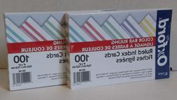 "Oxford 05146 Color Ruled 4"" x 6"" Index Cards, 2 Packs    Fre"