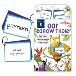 eeBoo 100 Sight Words Flash Cards, Level 3