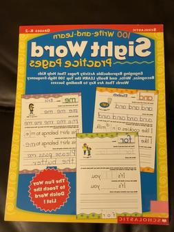 100 Write-and-Learn Sight Word Practice Pages, Grades K-2 Ne
