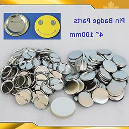 "4"" 100mm 100sets Pin Badge Button Parts Maker Machine Blank"