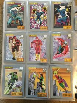 1991 DC Comics Trading Cards COMPLETE BASE SET, #1-180 - NM/