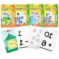 1st Grade Math Flash Cards with Stickers by Playskool - 4 Pa