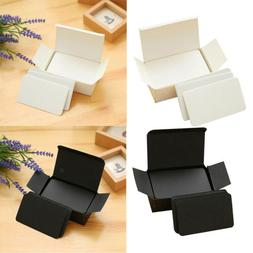 2 Boxes, Paper Blank Index Flash Cards DIY Greeting Black &