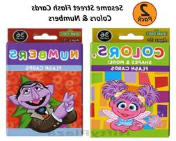2 Pack Sesame Street Flash Cards Early Learning Colors and N
