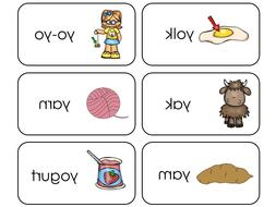 23 Letter Y Sounds Picture and Word Phonics Flashcards. Pres