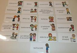 23 Manners in Spanish themed Flash Cards.  Preschool Picture