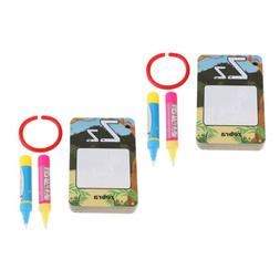 2x Non Toxic Baby Alphabet Coloring Flash Card Water Paintin