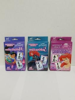 3 Pack Disney Princess Learning Flash Cards Addition Subtrac