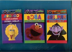 3 PACKS OF SESAME STREET FLASH CARDS - COLORS - NUMBERS - AB