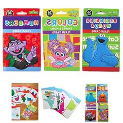 3 Sesame Street Flash Card Beginning Words Numbers Alphabet