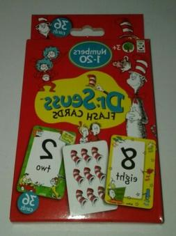 36 Dr. Seuss Flash Cards Counting Numbers 1-20 Preschool Lea