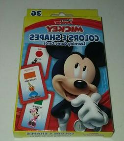 36 Mickey Mouse Game Flash Cards Colors Shapes Preschool Lea