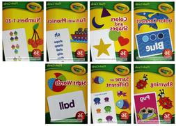 BENDON* 36pc CRAYOLA Language+Colors+Numbers FLASH CARDS Box