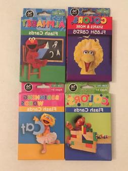 4 Sesame Street 36 Flash Cards For Toddlers 3+ Words, ABC, C