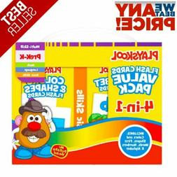 4 In 1 Flash Cards Alphabet First Words Shapes Colors Number