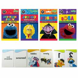 4 PACKS SESAME STREET FLASH CARDS - ABCs NUMBERS COLORS EARL