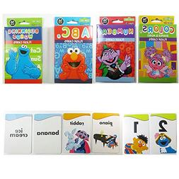 4 Sesame Street Flash Cards Beginning Words Numbers Colors S