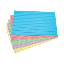 "Staples 4"" x 6"" Line Ruled Assorted Pastel Index Cards 100/P"