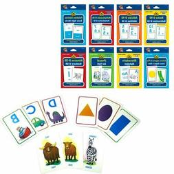 8 Early Learning Flash Cards English Spanish Math Colors Sha