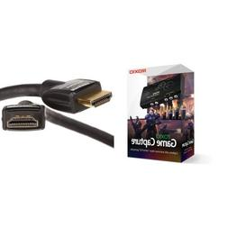 Bundle: Roxio Game Capture and AmazonBasics High-Speed HDMI