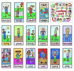 Carson Dellosa Kid-Drawn Emotions Bulletin Board Set