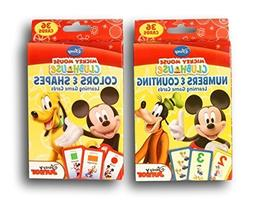 Mickey Mouse Clubhouse Learning Card Games Bundle - Numbers