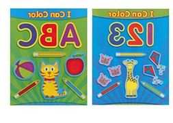 Paper Craft Coloring Books for Kids, ABC and 123, I Can Colo