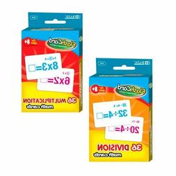 Set of 2 Learning Flash Cards Multiplication Division Number