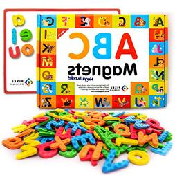 Pixel Premium ABC Magnets for Kids Gift Set - 142 Magnetic L