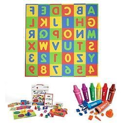 Tadpoles ABC 36-Piece Playmat in Primary Multicolor, Learnin