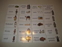 Abraham and Sarah Bible themed flashcards.  Laminated card s