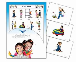 Action Words and Verbs Flashcards - Vocabulary Picture Cards