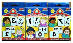 ADD, DIVISION, SUBTRACTION, FLASH CARDS, FISHER PRICE, AGE-5