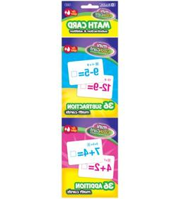 BAZIC Addition and Subtraction Mini Flash Card, 36 Count