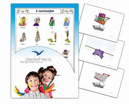 Adjectives and Opposites Flashcards for Language Learning -
