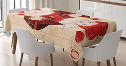 Ambesonne Alice in Wonderland Decorations Tablecloth, Queen