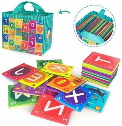 Alphabet Cards Toys ABC Flash Cards Baby Soft Washable Games