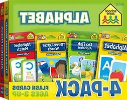 ALPHABET FLASH CARD 4-PACK By School Zone **BRAND NEW**