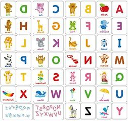 Loobani 174pcs Alphabet Flash Card For Toddler Preshool Earl