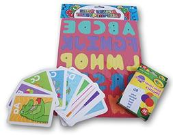 Letters Alphabet Foam Puzzle  and Phonics Flash Cards - Pres