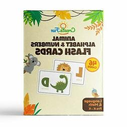 Animal 123 and ABC Flash Cards for Babies, Toddlers, Pre-K K