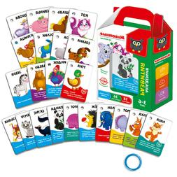 Animals Flash Cards on the Ring Educational Toy IN RUSSIAN L