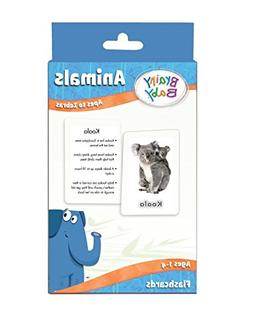 Brainy Baby Animals Flash Cards Set Apes to Zebras Deluxe Ed