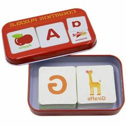 Anti-Tear Flash Cards Learning Alphabet Puzzle Cards, Matchi