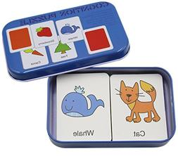 KINGSEVEN Anti-tear Flash Cards Learning Alphabet Puzzle Car