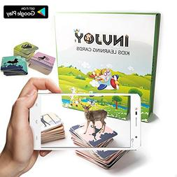 INVJOY AR - Augmented Reality Flash Cards for Kids - 100 Car