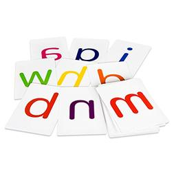 Attractivia Magnetic Alphabet Flash Cards - 36 Large Lowerca