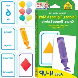 Bilingual Colors Shapes Flash Cards Kids Early Learning Matc