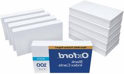 Oxford Blank Index Cards, 3' x 5', White, 1,000 Cards