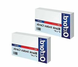 "Oxford Blank Index Cards, 4"" x 6"", White  4 x 6, 100 cards"